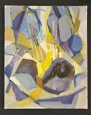 Huile sur toile Abstraite Vers 1960 Paul RIGOULET Format 6F (41 X 33 cm) N°2