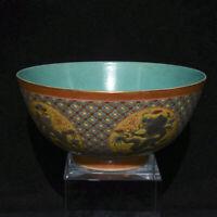"""6,6 """"émaux de couleur chinoise Qianlong bols en porcelaine Dynasty Dragon Bowl"""