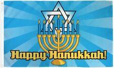 Happy Hanukkah Flag 3x5ft Happy Chanukah Festival of Lights Holiday House Flag