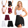 Womens Girls Asymmetric Chiffon Ballet Dance Skirt Skate Wrap Over Scarf Waist