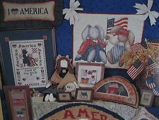 """STAR SPANGLED COUNTRY""  CROSS STITCH PATTERN BY ALMA LYNNE DESIGNS"