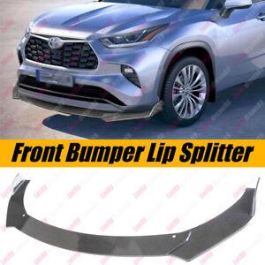 Front Bumper Lip Spoiler Splitter Carbon Fiber Print For Toyota Highlander 2020