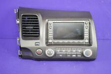 07-09 Honda Civic 1.8L Navigation Radio CD AM FM Stereo 39541-SNA-A220 Climate