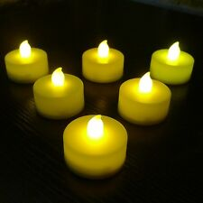 12 Flameless LED Tea Light Candles Flickering Wedding Party Batteries Included