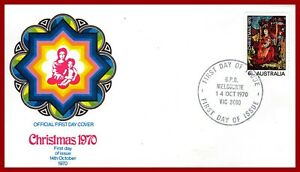 Australia 1970 Christmas, illustrated first-day cover - SG 475