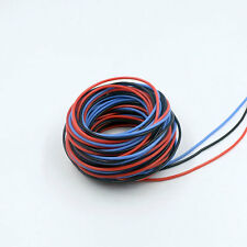 20 AWG 20 Gauge 45ft Soft Flexible Silicone Wire Servo Wire (Black Red Blue)