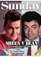 CHARLIE SHEEN   - SUNDAY MAGAZINE -15 AUG 1993