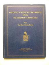 COLONIAL AMERICAN DOCUMENTS - CHRISTIE'S NEW YORK 1982