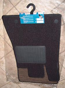 Mercedes-Benz OEM R230 SL Class European Spec Black Ribbed Carpet Mat Set NEW