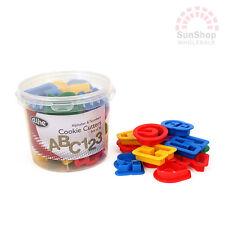 100% Genuine! D.LINE Alphabet & Number 36 Piece Cookie Cutter Set Plastic!