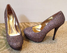 NEW CHARLOTTE RUSSE MULTI-COLOR GLITTER STILETTO HIGH HEELS SZ 8