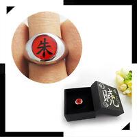 2019 1.9cm Cool Naruto Akatsuki Uchiha Itachi Zhu Ring Metal Alloy Cosplay Gifts