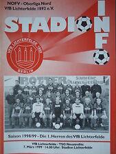 Programm 1998/99 VfB Lichterfelde - TSG Neustrelitz