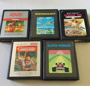 Lot de 5 jeux Atari 2600