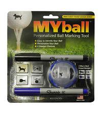MYball Personalized Golf Ball Marking Tool 4 Designs - Man's Best Friend Series