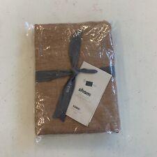 West Elm Belgian Flax Linen Melange Euro Sham Terracotta NEW $54.50