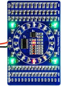 Soldering practice SMD circuit board LED electronics project DIY kit SMT PCB: UK
