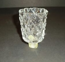 PartyLite Crystal Quilted Votive Cup w/ rubber grommet
