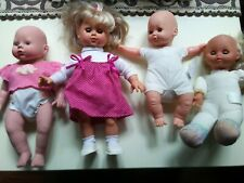 4 Baby Dolls For Parts or Repair Rubber & Cloth Material