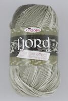 400 Grams (4 Balls)KING COLE FJORD NON PILLING DK variegated Yarn. SHADE Norddal