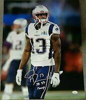 Phillip Dorsett New England Patriots Autographed Inscribed 16x20 photo JSA-Coa