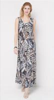 Attitudes by Renee Regular Printed Maxi Dress - Animal - XLarge