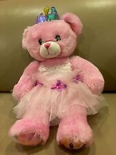 BUILD A BEAR Plush DISNEY PRINCESS TEDDY Pink Ariel Cinderella Belle Snow White