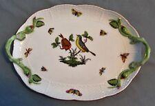 Herend China Rothschild Bird Branch Handled Serving Platter 412 RO