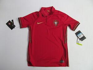 Nike Portugal 20/21 Home Stadium CD1040 687  kids red polo shirt sz M Brand New