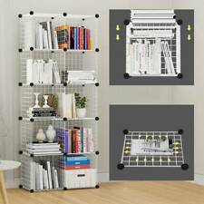 8 Cube Wire Grid Unit DIY Shelving Bookcase Shelf Storage Display Cabinet