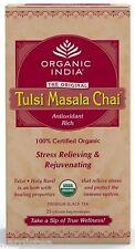 Organic India Tulsi Masala Chai 25 Tea Bags Pure Spice Tea Free Ship Original