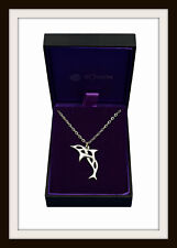 CELTIC DOLPHIN PEWTER PENDANT KNECKLACE ~ HEALING & FRIENDSHIP ~ FROM ST. JUSTIN