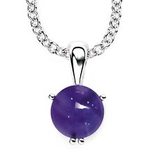 "Solid Sterling Silver 10mm Round Multi Gemstone Necklace with 17.5 ""  Chain"