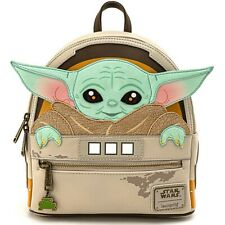 Disney Star Wars Loungefly Mandalorian The Child Baby Yoda in Pram Mini Backpack
