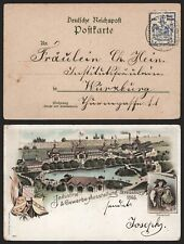 Germany Local Post 1895 - Postcard to Wurzburg MM49