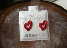 Mode-Ohrschmuck aus Edelstahl mit Strass-Perlen und Herz-Schliffform