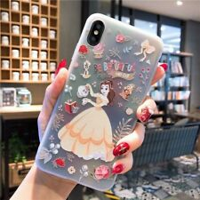 Lovely Snow White Cinderella Mermaid Princess TPU Case For iPhone XS Max XR X 8
