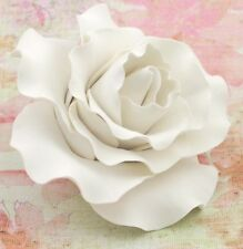 Extra Large White Rose Sugar flower wedding birthday cake decoration top