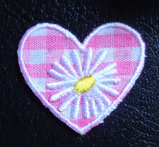 Iron On Patch Applique - Heart with Flower