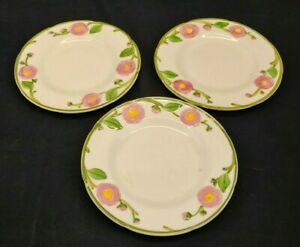Camellia by Metlox Poppytrail California Hand decorated Set of 3 Bread Plates