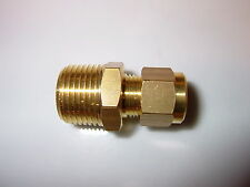 """3/8"""" BSP to 8mm brass compression straight, Motor home Caravan Boat Gas fitting."""