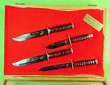 Vintage 1991 US Camillus Cutlery Set 4 MK2 M3 Jet Pilot Survival Fighting Knife