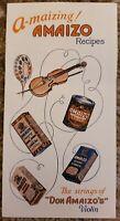A-MAIZING AMAIZO OIL RECIPES Vintage Recipe Pamphlet Booklet MINT RARE!