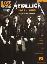 Metallica 1983-1988 Bass Play-Along Noten Tab mit Download Code