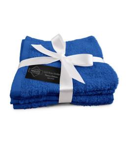 100% Premium Cotton 4 Pack Face Towels Wash Cloths Flannels 30x30cm