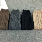Women Lady Winter Warm Wool Knit High Stocking High Socks Thigh Pantyhose Tights