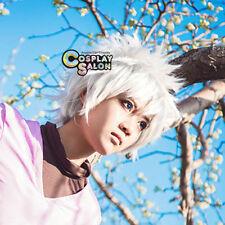 30CM Killua Zoldyck New Fashion Men Short White Layered Anime Basic Cosplay Wig