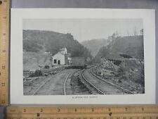 Rare Antique Original VTG Allatoona Pass Georgia, Railway Photogravure Art Print