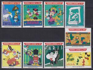 Z465. Sierra Leone - MNH - Cartoons - Disney's - Various Characters