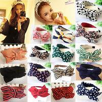 Hot Lady Girls Cute Sweet Big Bow Ribbon Hair Accessories Headband Bow Hair Band